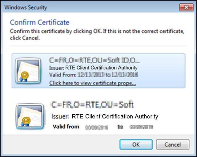 Use of RTE PKI